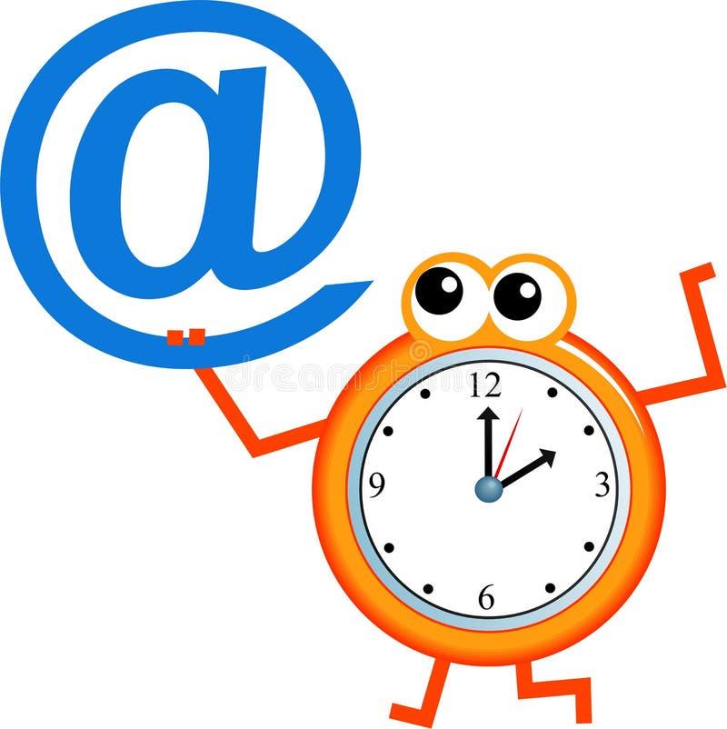 temps d'email illustration de vecteur