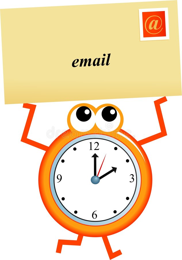temps d'email illustration stock