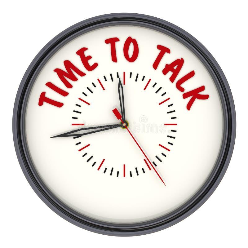 temps d'entretien à Horloge avec le texte illustration libre de droits