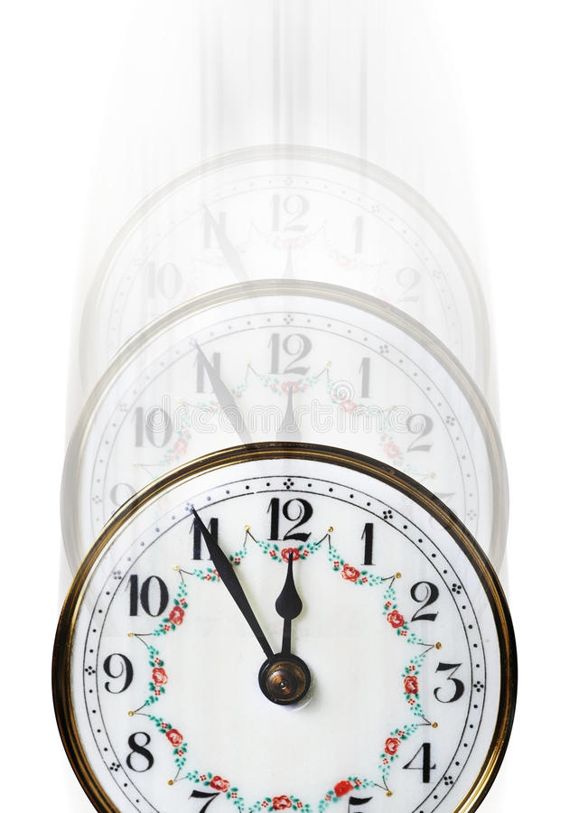 Temps d'horloge se fanant loin photo stock