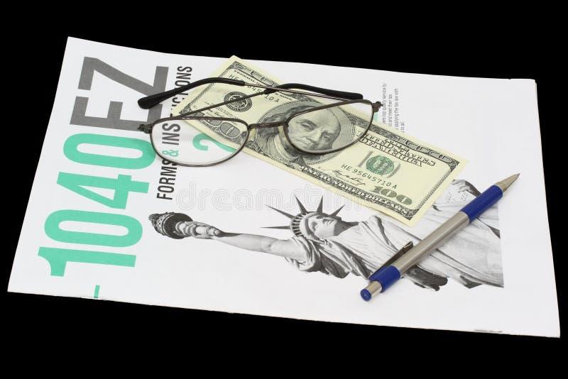 Temps d'impôts image libre de droits