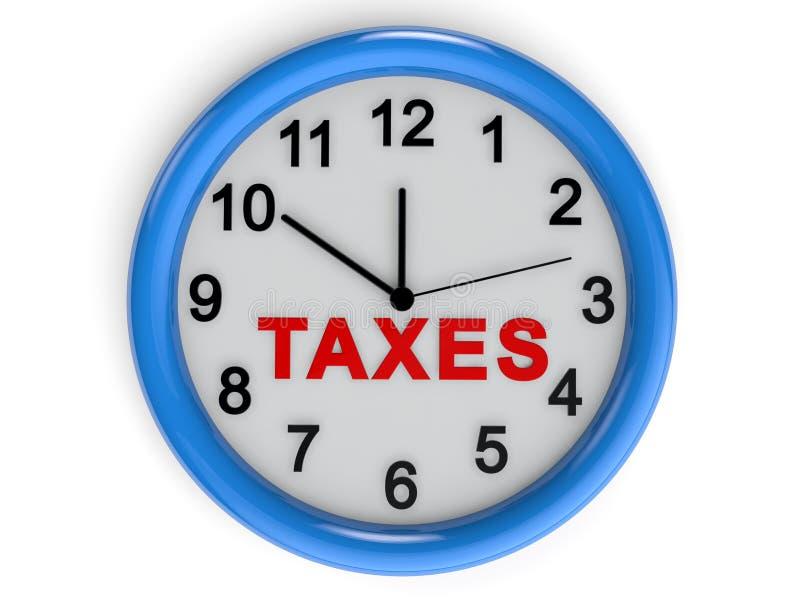 Temps d'impôts illustration de vecteur