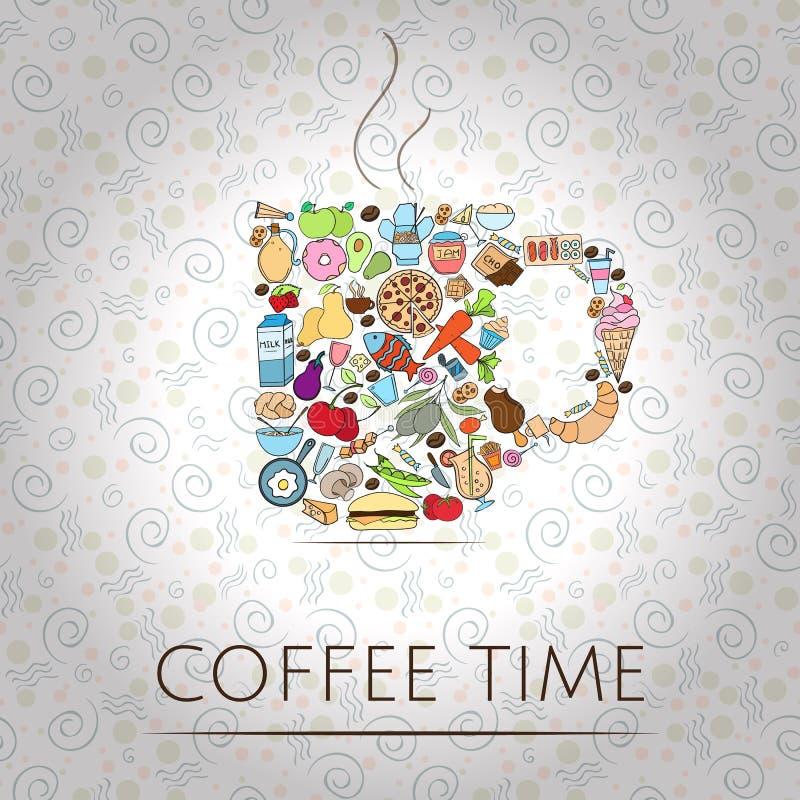 Temps de café illustration de vecteur