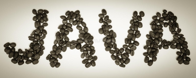 Temps de café - JAVA Beans photo libre de droits