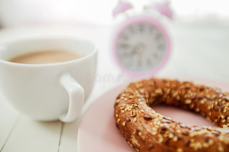 Temps de café de petit déjeuner photo stock