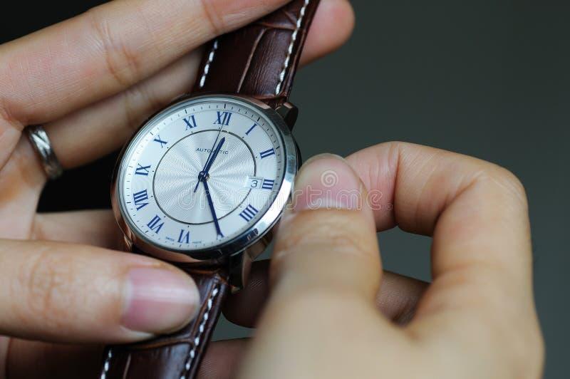 Temps de configuration photographie stock libre de droits