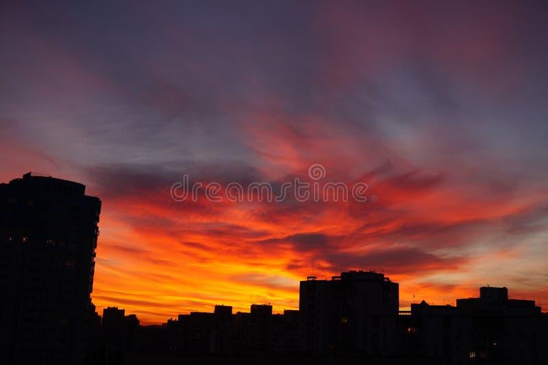 Temps de coucher du soleil photo libre de droits