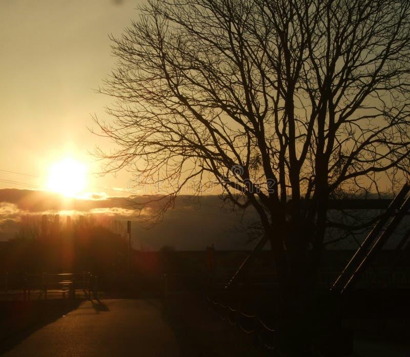 Temps de coucher du soleil images libres de droits