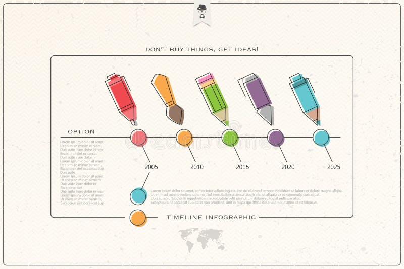 Temps de crayon illustration libre de droits