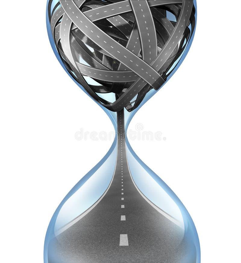 Temps de déplacement illustration de vecteur