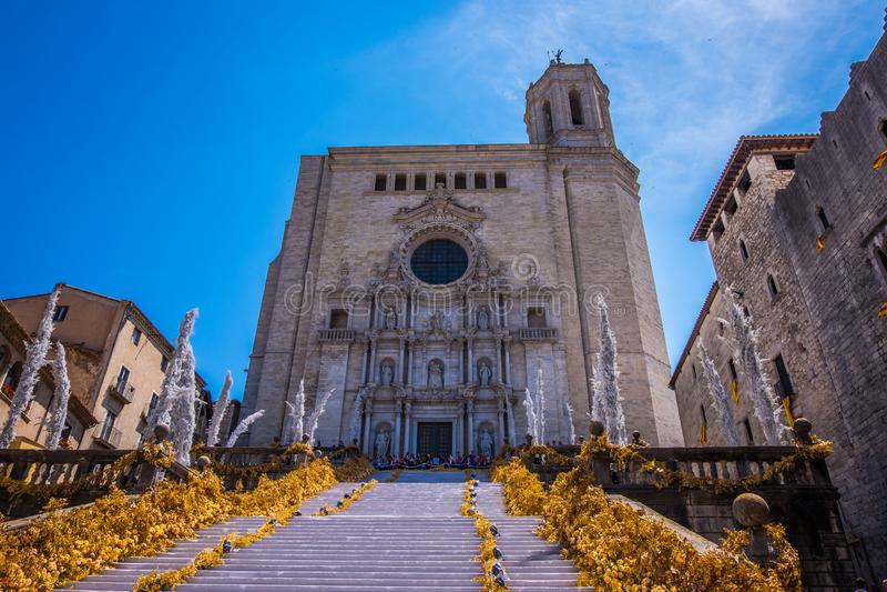 Temps de flors, фестиваль цветка события в Хероне Каталонии стоковые изображения