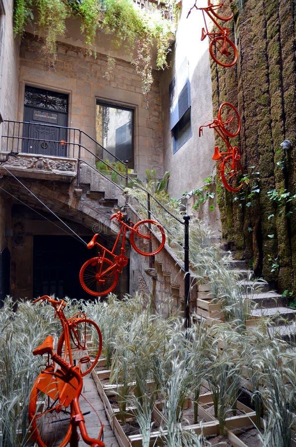 Temps de Flors (festival) del fiore, Girona, Spagna fotografie stock libere da diritti
