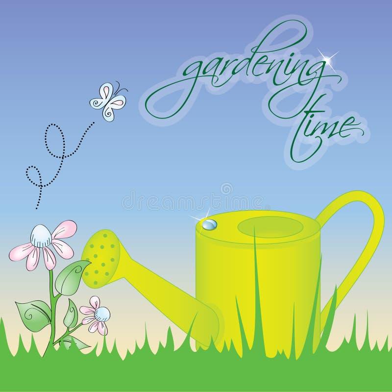 Temps de jardinage illustration stock
