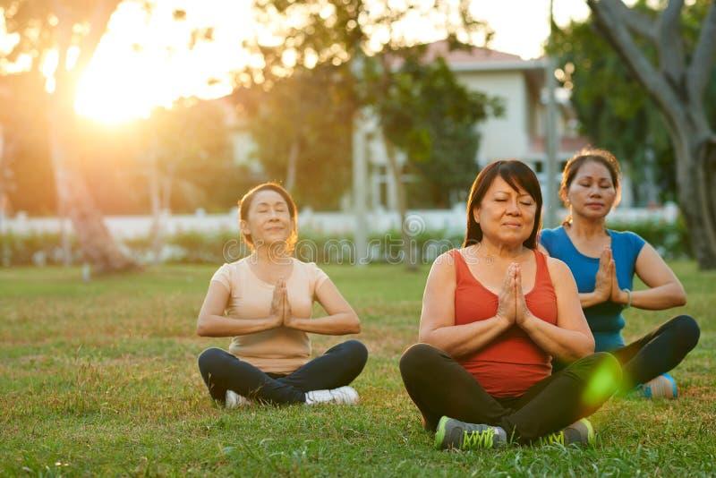 Temps de méditation image libre de droits
