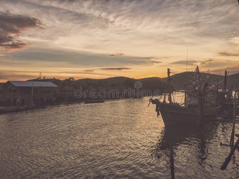 Temps de mer de bateau photographie stock