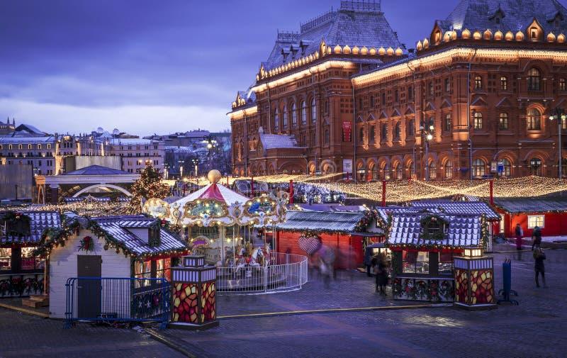 Temps de Noël à Moscou images libres de droits