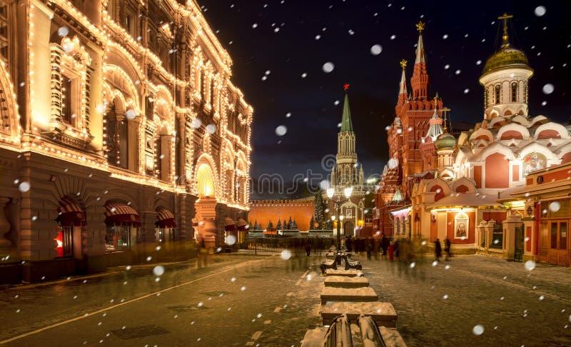 Temps de Noël à Moscou photos libres de droits