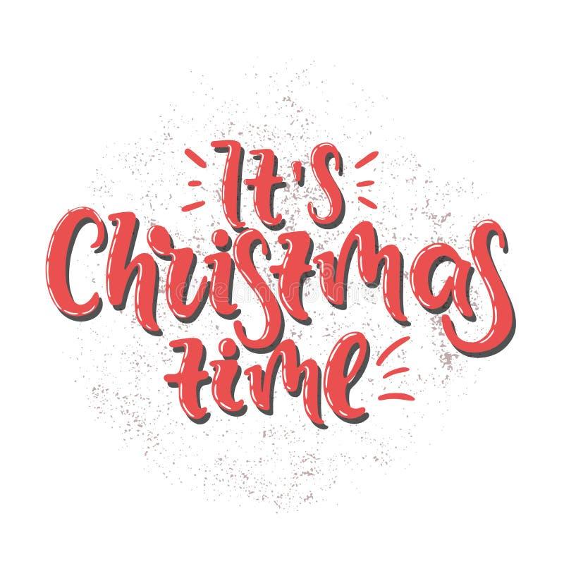 Temps de Noël de vecteur illustration stock