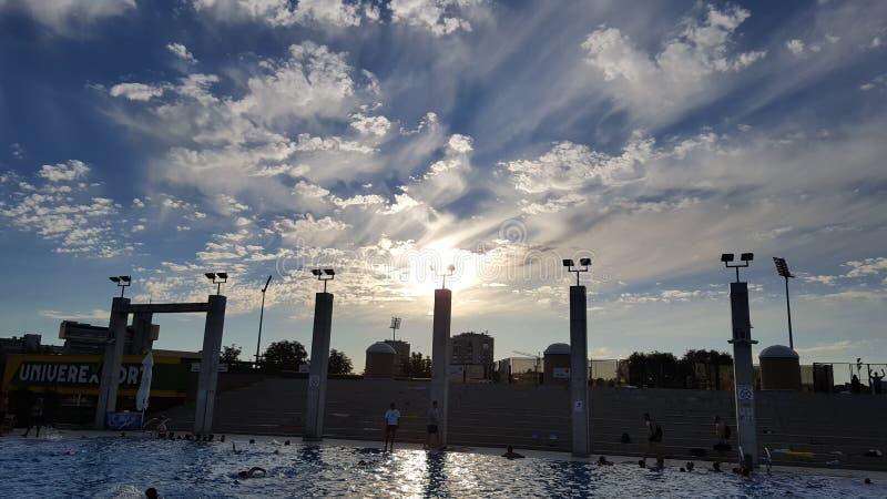 Temps de piscine images libres de droits