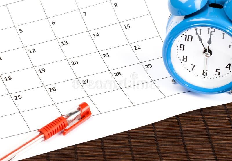Temps de planification photos stock