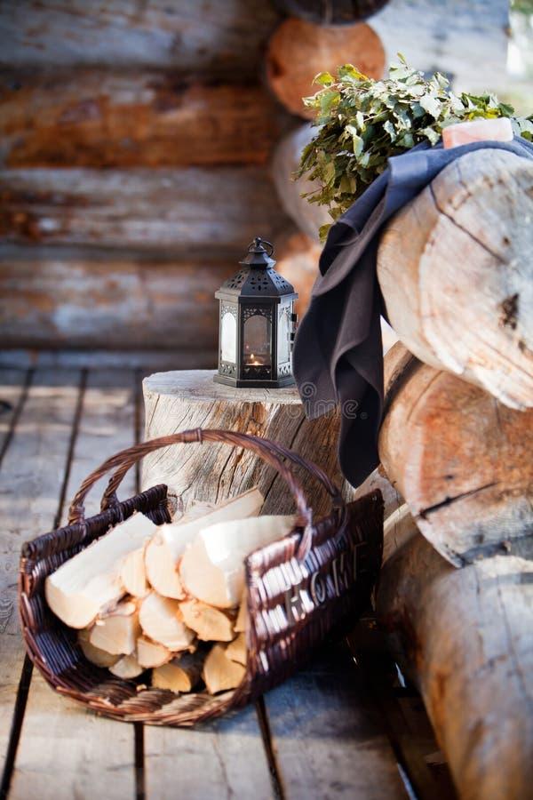 Temps de sauna photo stock
