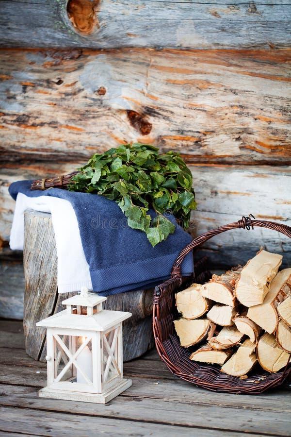 Temps de sauna photo libre de droits