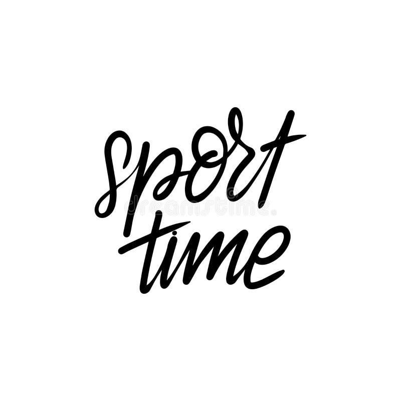 Temps de sport de lettrage illustration de vecteur