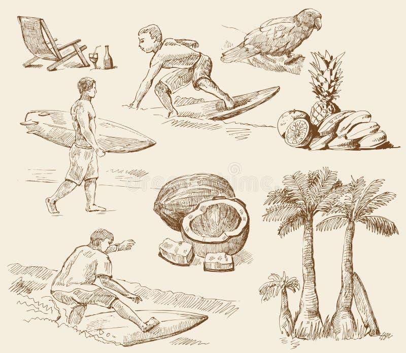 Temps de surfer illustration de vecteur