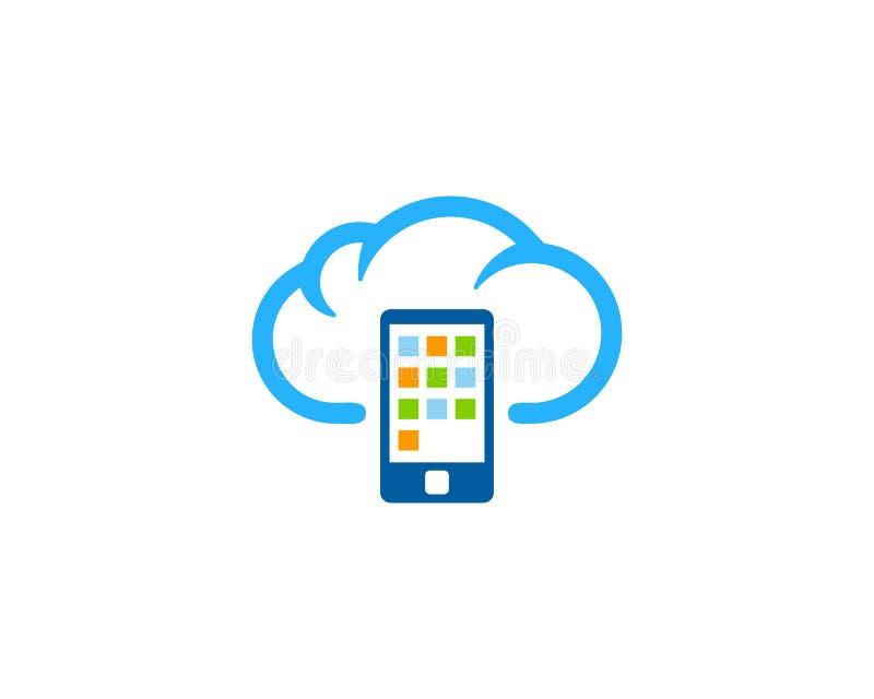 Temps de téléphone portable et icône Logo Design Element de saison illustration stock