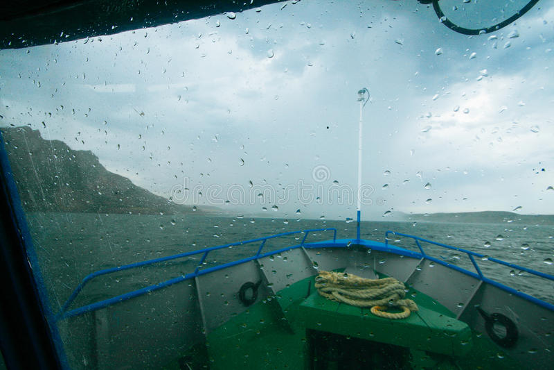 Temps de tempête dehors photo stock