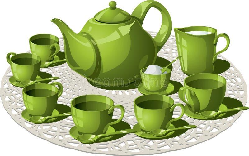 Temps de thé illustration stock