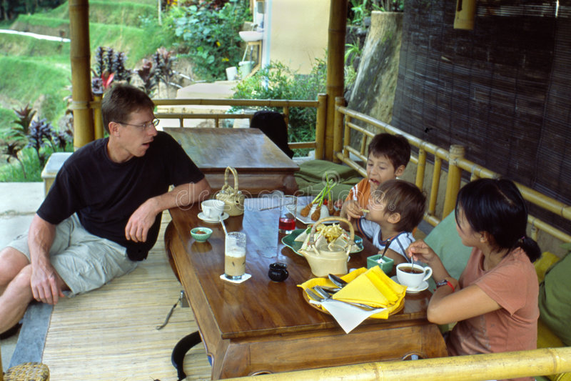 Temps de thé dans Bali photos libres de droits