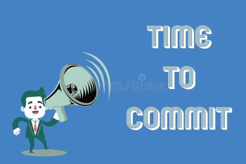 Temps des textes d'écriture de Word de commettre Concept d'affaires pour l'engagement ou l'obligation qui limitent la liberté d'a illustration de vecteur