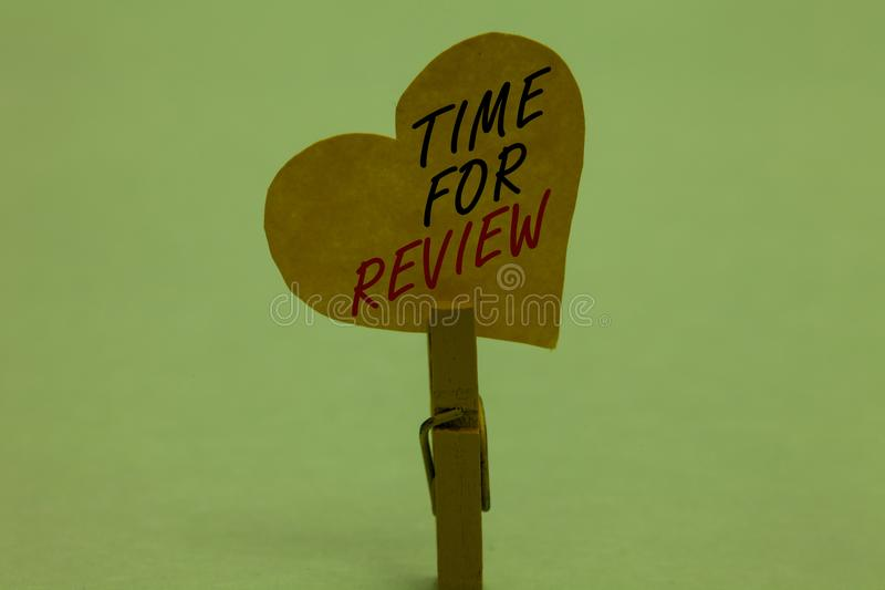 Temps des textes d'écriture pour l'examen Pape de fond de couleur de Rate Assess Celadon de représentation de moment de rétroacti images libres de droits