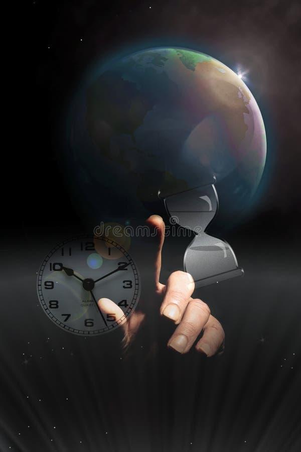 Temps en hausse de la terre images libres de droits