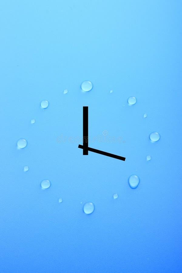 Temps et eau image libre de droits