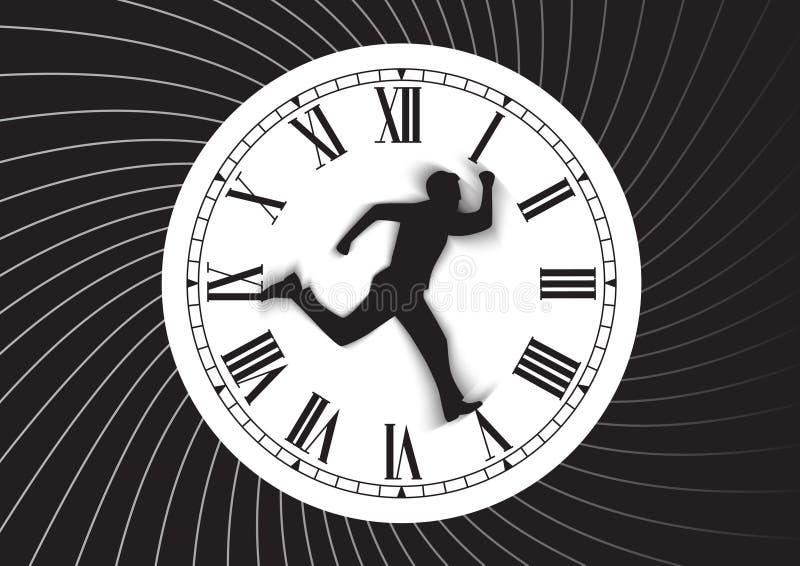 Temps et homme illustration libre de droits