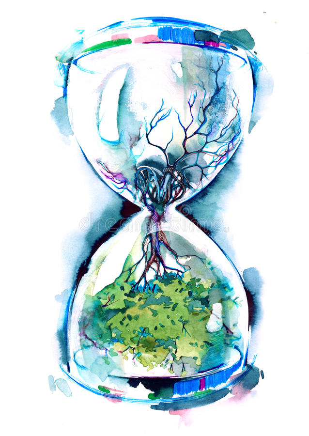 Temps et nature illustration libre de droits