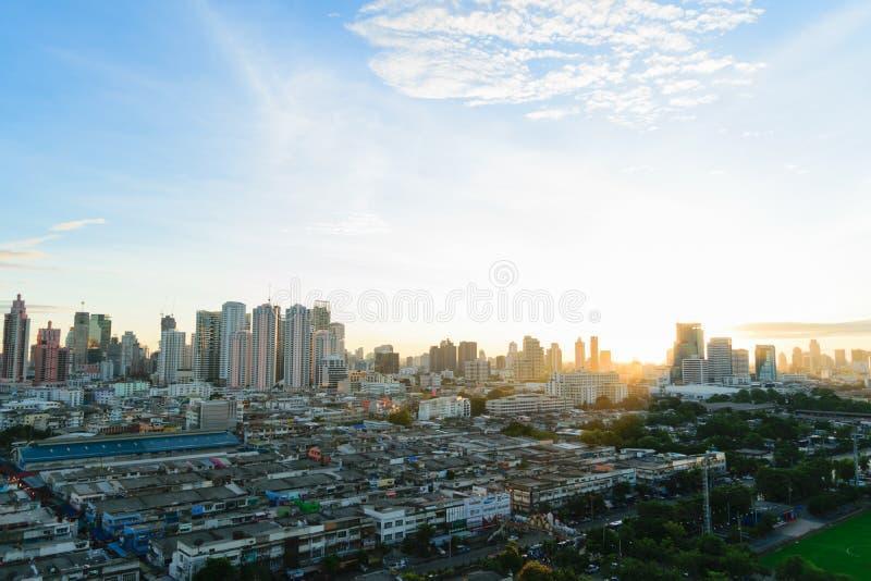 Temps et transport de matin de soleil dans la ville Thailan de Bangkok photo libre de droits