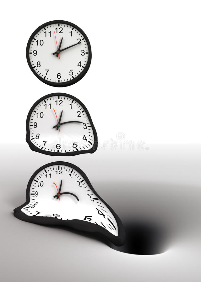 Temps et trou noir illustration libre de droits