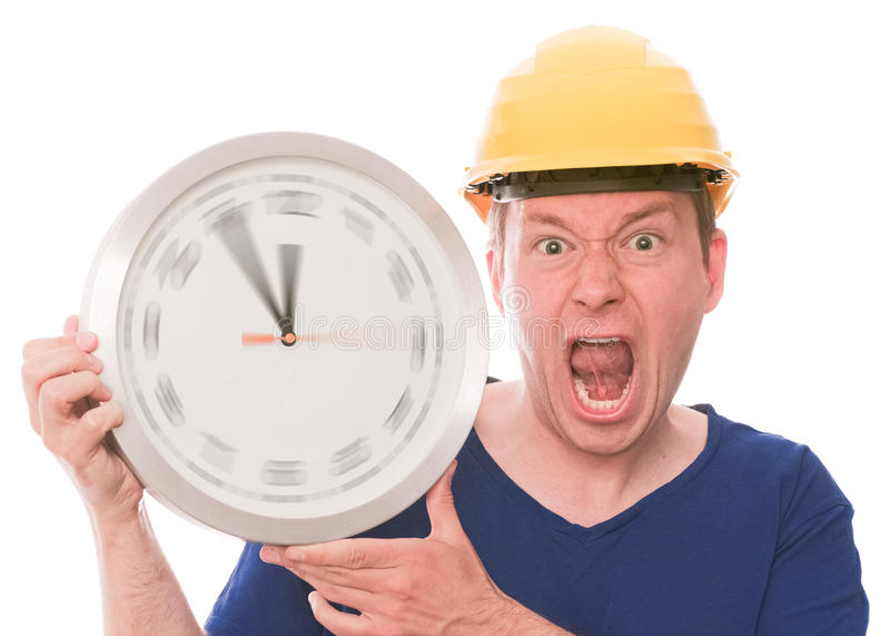 Temps fâché de bâtiment (la montre de rotation remet la version) photo libre de droits