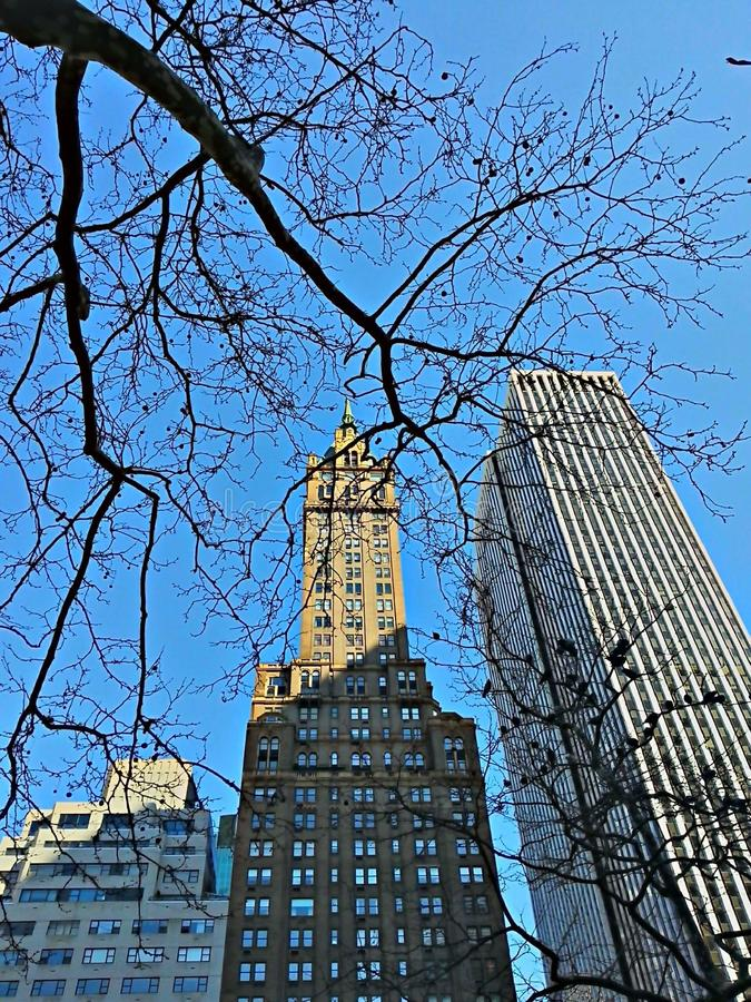 temps froid dans le nyc photo stock