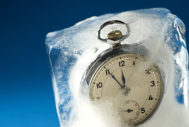 temps gelé images stock