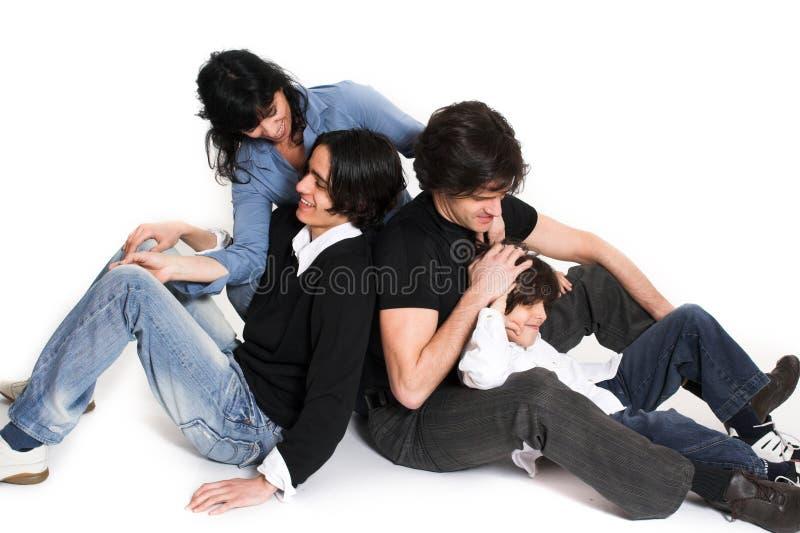 Temps heureux de famille photo libre de droits