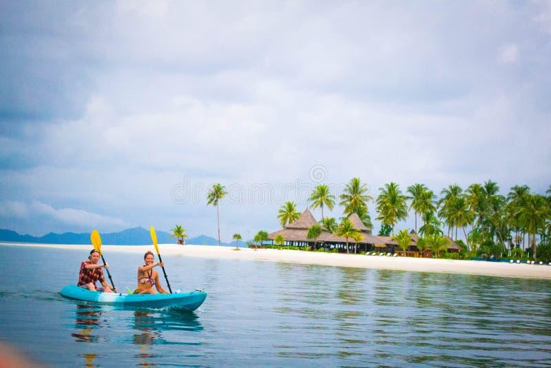 Temps Kayaking image stock