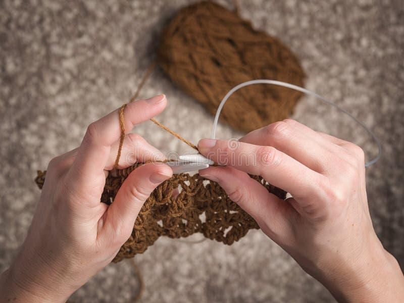 Temps libre avec le tricotage images libres de droits