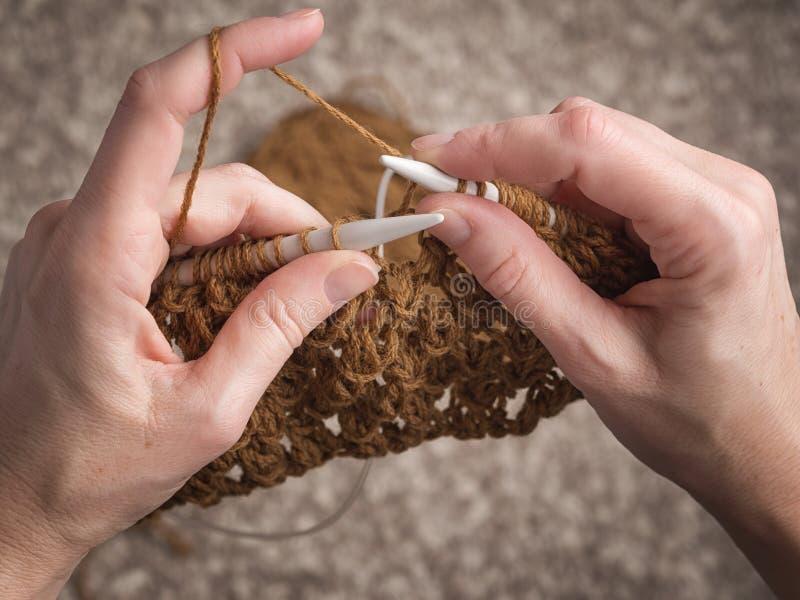 Temps libre avec le tricotage photo stock