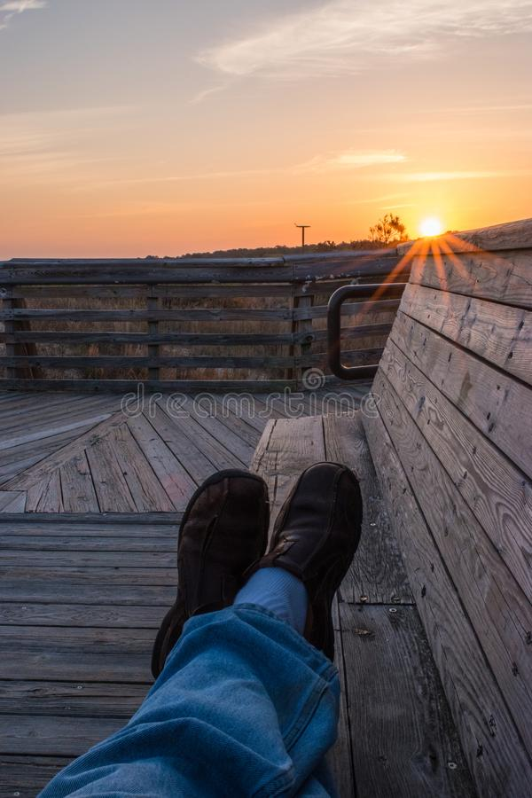 Temps libre de lever de soleil sur la plage photo libre de droits