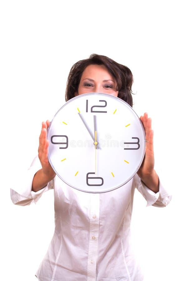Temps/lui est 5 avant 12 image libre de droits