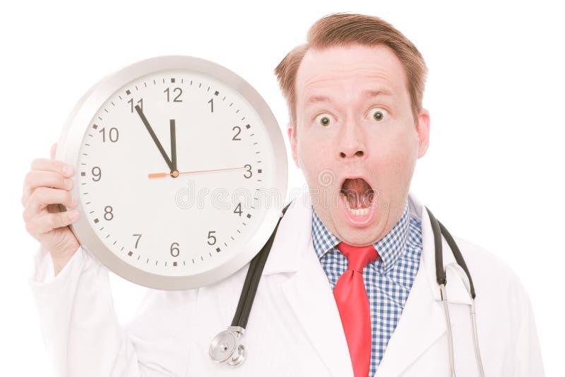 Temps médical choquant photographie stock